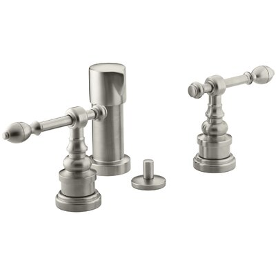 Iv Georges Brass Vertical Spray Bidet Faucet with Lever Handles Finish: Vibrant Brushed Nickel