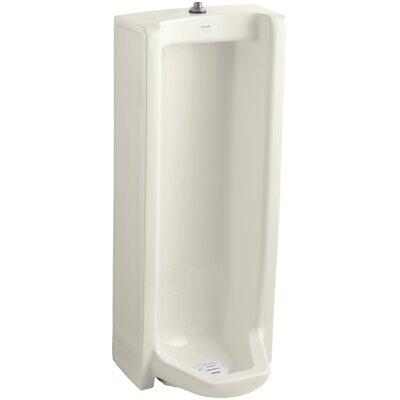 Branham Washout Floor-Mount 1 GPF Urinal with Top Spud Finish: Biscuit