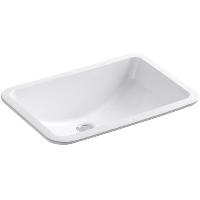 Ladena Rectangular Undermount Bathroom Sink with Overflow Finish: White with Glazed Underside