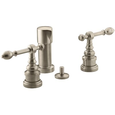 Iv Georges Brass Vertical Spray Bidet Faucet with Lever Handles Finish: Vibrant Brushed Bronze