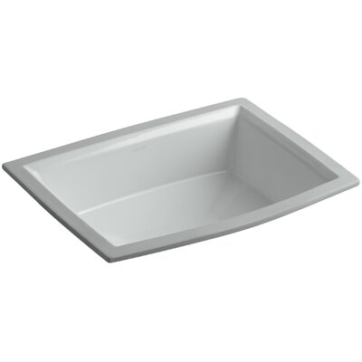 Archer Ceramic Rectangular Undermount Bathroom Sink with Overflow Sink Finish: Ice Grey