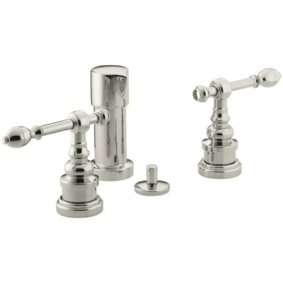Iv Georges Brass Vertical Spray Bidet Faucet with Lever Handles Finish: Vibrant Polished Nickel