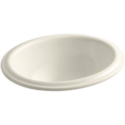 Intaglio Ceramic Oval Drop-In Bathroom Sink Sink Finish: Almond