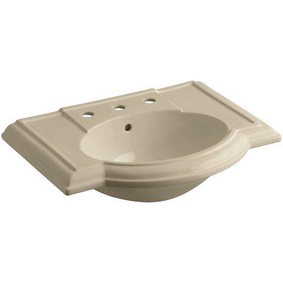 Devonshire� Ceramic 28 Pedestal Bathroom Sink with Overflow Finish: Mexican Sand