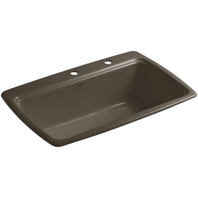 Cape Dory 33 x 22 x 9-5/8 Top-Mount Single-Bowl Kitchen Sink Finish: Suede, Faucet Drillings: 3 Hole