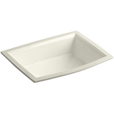 Archer Rectangular Undermount Bathroom Sink Sink Finish: Biscuit