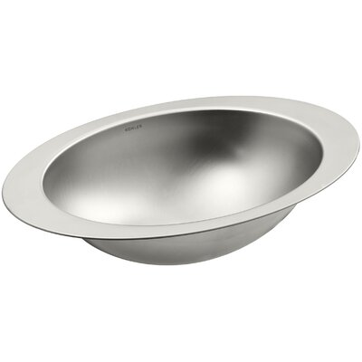 Rhythm Oval Undermount Bathroom Sink Sink Finish: Satin