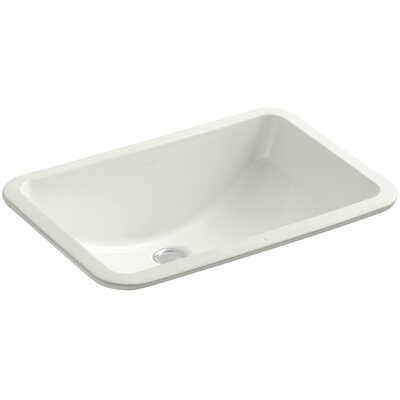 Ladena Ceramic Rectangular Undermount Bathroom Sink Finish: Dune with Glazed Underside