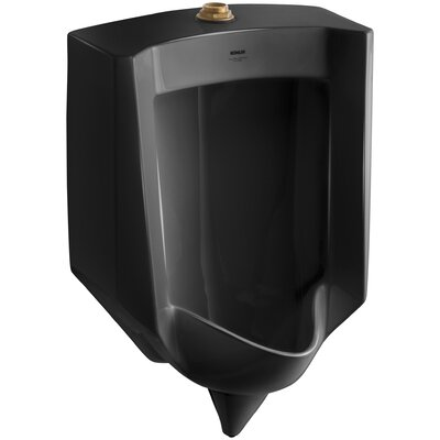 Stanwell Blow-Out Wall-Mount 1 GPF Urinal with Top Spud Finish: Black Black