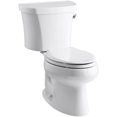 Wellworth Two-Piece Elongated 1.28 GPF Toilet with Class Five Flush Technology, Right-Hand Trip Lever and Insuliner Tank Liner Finish: White
