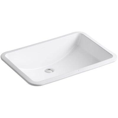 Ladena Rectangular Undermount Bathroom Sink with Overflow Sink Finish: White