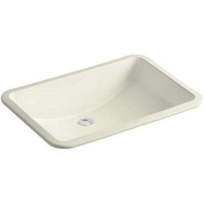 Ladena Rectangular Undermount Bathroom Sink with Overflow Sink Finish: Almond