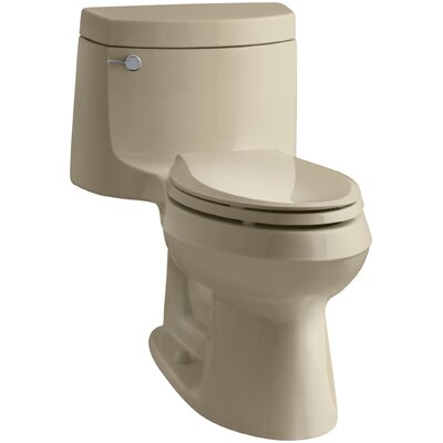 Cimarron Comfort Height One-Piece Elongated 1.28 GPF Toilet with Aquapiston Flush Technology and Left-Hand Trip Lever Finish: Mexican Sand
