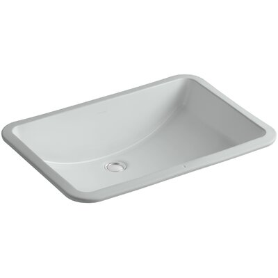 Ladena Rectangular Undermount Bathroom Sink with Overflow Sink Finish: Ice Grey