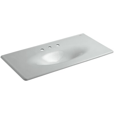Iron Impressions 44 Single Bathroom Vanity Top Finish: Ice Grey, Faucet Hole Style: 8 Widespread
