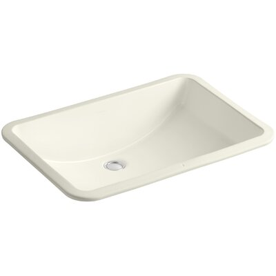 Ladena Ceramic Rectangular Undermount Bathroom Sink with Overflow Sink Finish: Biscuit