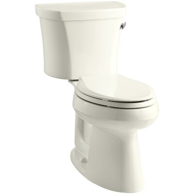 Highline 1.28 GPF Elongated Two-Piece Toilet Finish: Biscuit