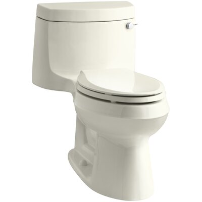 Cimarron Comfort Height One-Piece Elongated 1.28 GPF Toilet with Aquapiston Flush Technology and Right-Hand Trip Lever Finish: Biscuit