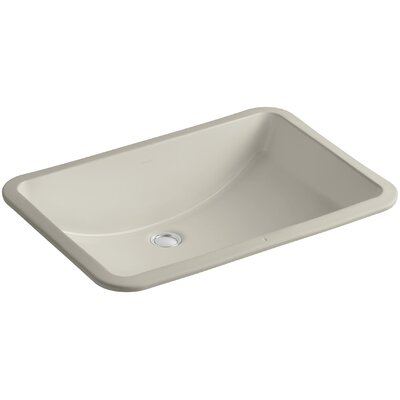 Ladena Rectangular Undermount Bathroom Sink with Overflow Sink Finish: Sandbar