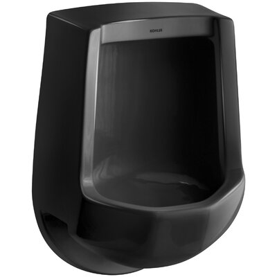 Freshman Siphon-Jet Wall-Mount 1 GPF Urinal with Rear Spud Finish: Black Black