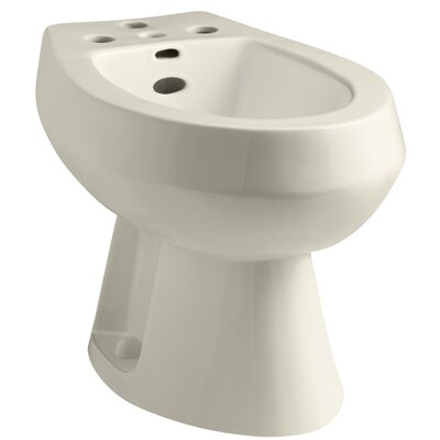 San Tropez Vertical Spray Bidet with 4 Faucet Holes Finish: Almond