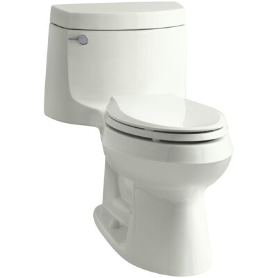 Cimarron Comfort Height One-Piece Elongated 1.28 GPF Toilet with Aquapiston Flush Technology and Left-Hand Trip Lever Finish: Dune