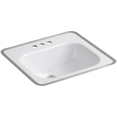 Tahoe Metal Rectangular Drop-In Bathroom Sink with Overflow Sink Finish: White