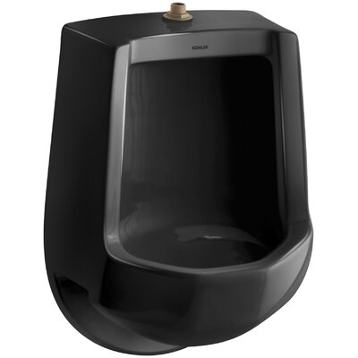 Freshman Siphon-Jet Wall-Mount 1 GPF Urinal with Top Spud Finish: Black Black