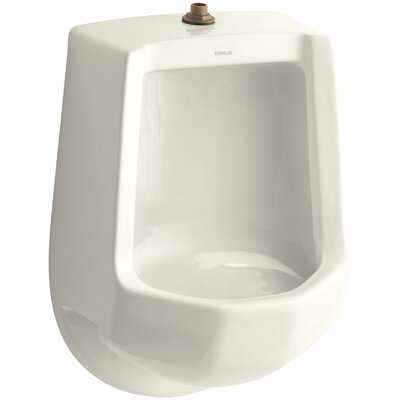Freshman Siphon-Jet Wall-Mount 1 GPF Urinal with Top Spud Finish: Biscuit