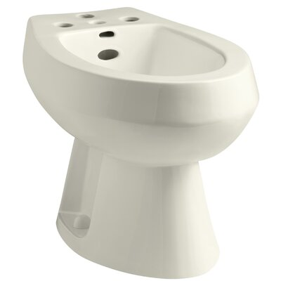 San Tropez Vertical Spray Bidet with 4 Faucet Holes Finish: Biscuit