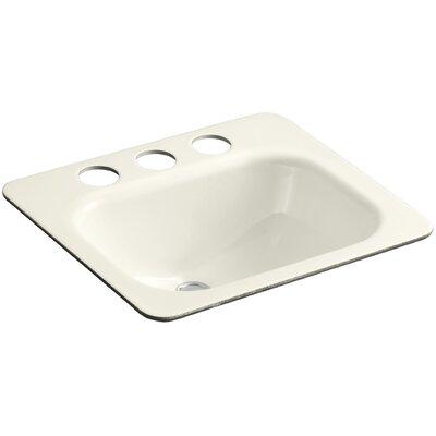 Tahoe Metal Rectangular Undermount Bathroom Sink with Overflow Finish: Biscuit