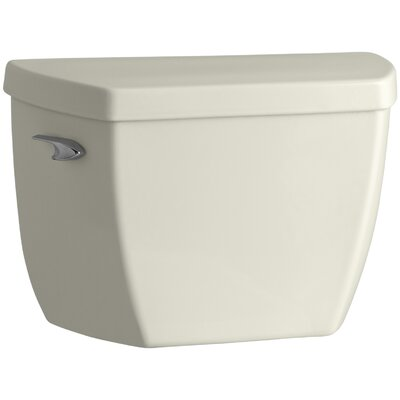 Highline Classic Toilet Tank with Pressure Lite Flushing Technology and Tank Cover Locks Finish: Biscuit