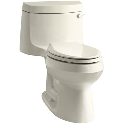 Cimarron Comfort Height One-Piece Elongated 1.28 GPF Toilet with Aquapiston Flush Technology and Right-Hand Trip Lever Finish: Almond