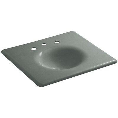 Iron Impressions 26 Single Bathroom Vanity Top Finish: Basalt, Faucet Hole Style: Single