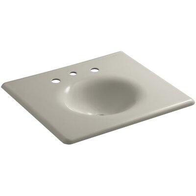Iron Impressions 26 Single Bathroom Vanity Top Finish: Sandbar, Faucet Hole Style: 8 Widespread