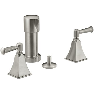 Memoirs Stately Vertical Spray Bidet Faucet with Lever Handles Finish: Vibrant Brushed Nickel