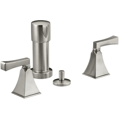 Memoirs Stately Vertical Spray Bidet Faucet with Deco Lever Handles Finish: Vibrant Brushed Nickel