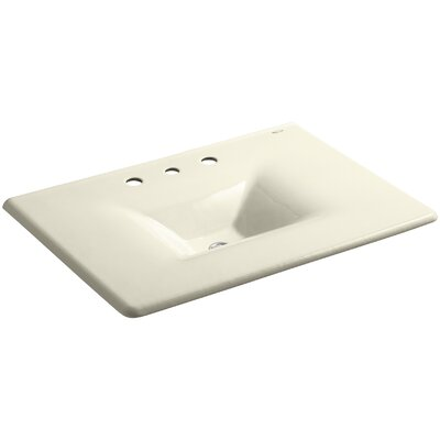 Iron Impressions 32 Single Bathroom Vanity Top Finish: Cane Sugar, Faucet Hole Style: Single