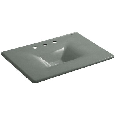Iron Impressions 32 Single Bathroom Vanity Top Finish: Basalt, Faucet Hole Style: 8 Widespread