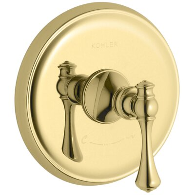 Revival Valve Trim with Traditional Lever Handle for Thermostatic Valve, Requires Valve Finish: Vibrant Polished Brass