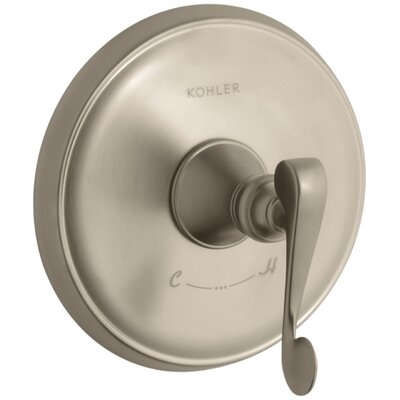 Revival Valve Trim with Scroll Lever Handle for Thermostatic Valve, Requires Valve Finish: Vibrant Brushed Bronze