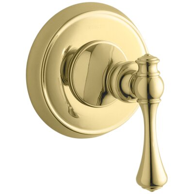 Revival Valve Trim with Traditional Lever Handle for Volume Control Valve, Requires Valve Finish: Vibrant Polished Brass
