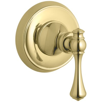 Revival Valve Trim with Traditional Lever Handle for Transfer Valve, Requires Valve Finish: Vibrant Polished Brass