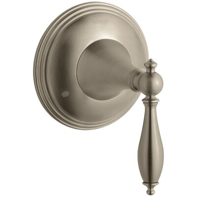 Finial Traditional Valve Trim with Lever Handle for Transfer Valve, Requires Valve Finish: Vibrant Brushed Bronze