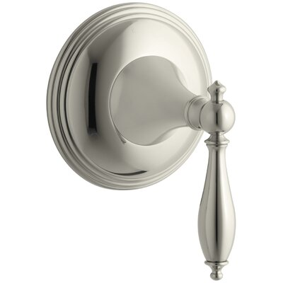 Finial Traditional Valve Trim with Lever Handle for Transfer Valve, Requires Valve Finish: Vibrant Polished Nickel