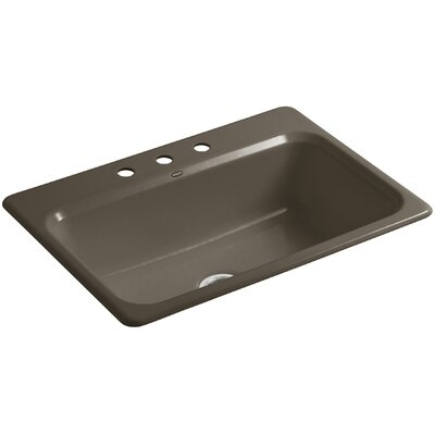Bakersfield 31 x 22 x 8-5/8 Top-Mount Single-Bowl Kitchen Sink Finish: Suede, Number of Faucet Holes: 4