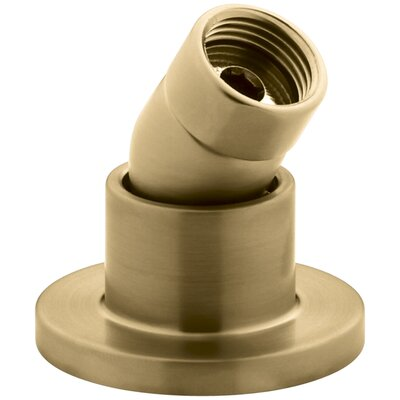 Stillness Deck- or Bath-Mount Handshower Holder with Hoses Finish: Vibrant Moderne Brushed Gold