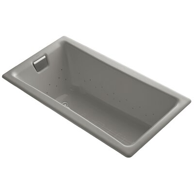Tea-For-Two 60 x 32 Air Bathtub Jet Finish: Brushed Nickel, Finish: Cashmere