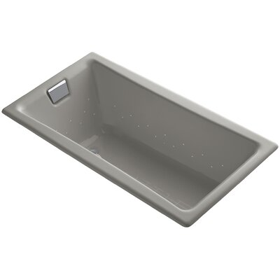 Tea-For-Two 60 x 32 Air Bathtub Finish: Cashmere, Jet Finish: Polished Chrome