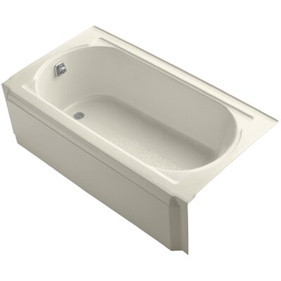 Memoirs Alcove 60 x 34 Soaking Bathtub Finish: Almond